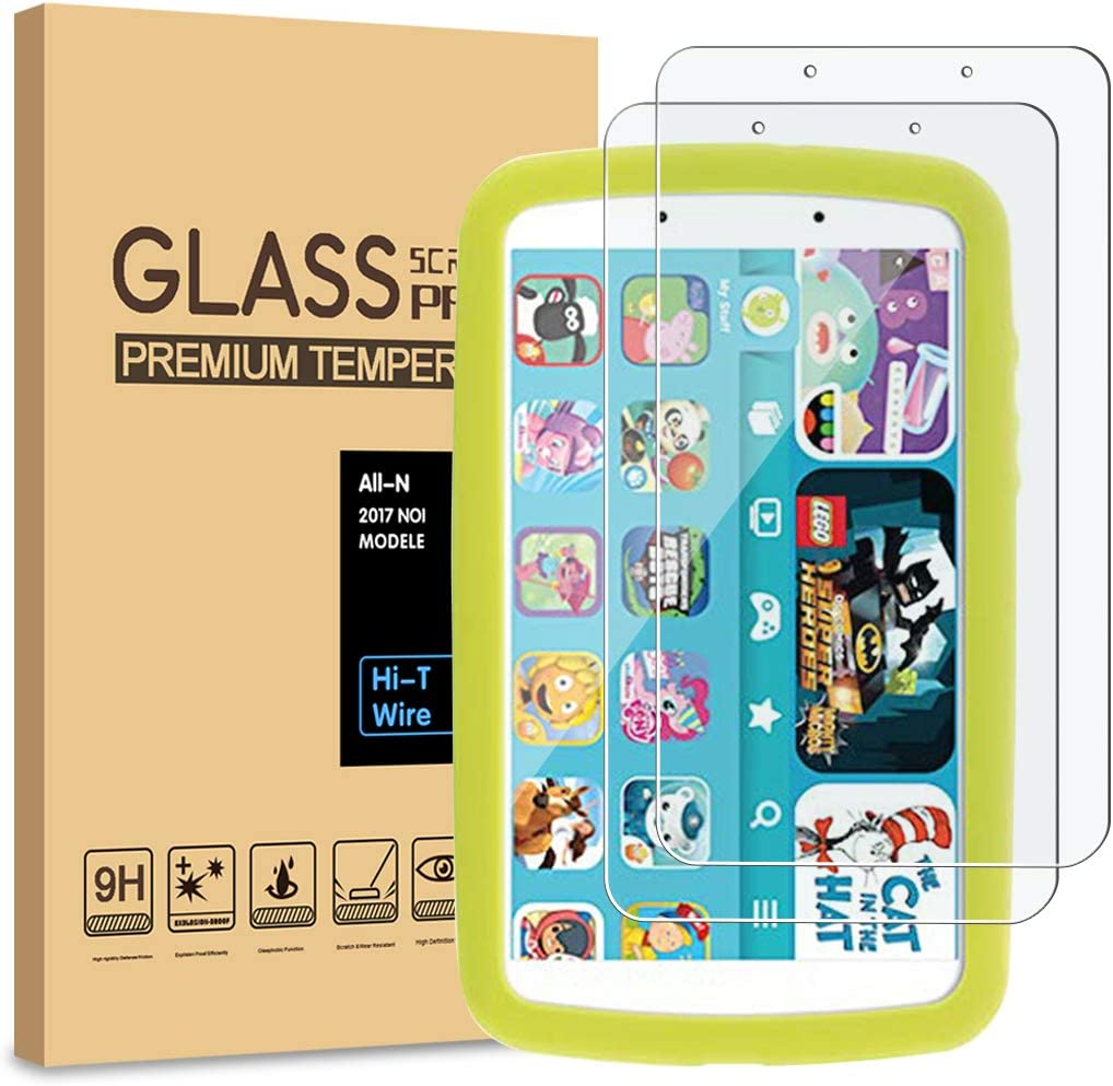 [2-Pack] PULEN Tempered Glass for Samsung Galaxy Tab A Kids Edition 8'' Screen Protector (2019),HD Clear No Bubble Anti-Fingerprints 9H Hardness for Tab A Kids Edition SM-T290N (8.0 Inch)