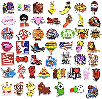 Mai Zi Stickers for Water Bottles 50 pcs Laptop Stickers Cute Water Bottles Stickers Pack for Teens Girls Suitcases Decoration Graffiti Patches Skateboard Popular Stickers(50 Piece Series-5)