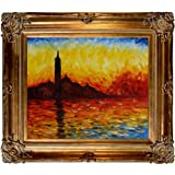 overstockArt MON1488-FR-801G20X24 Claude Monet San Giorgio Maggiore by Twilight 20-Inch by 24-Inch Framed Oil on Canvas