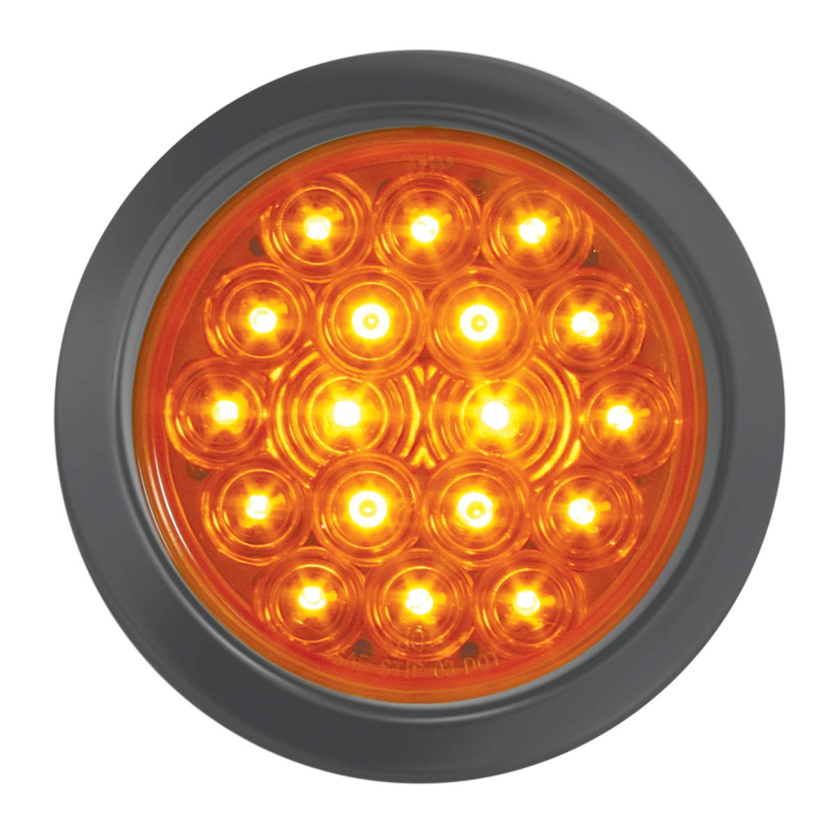 GG Grand General 76455 LED Light (4'' Fleet Amber 18 with Grommet and Pigtail)