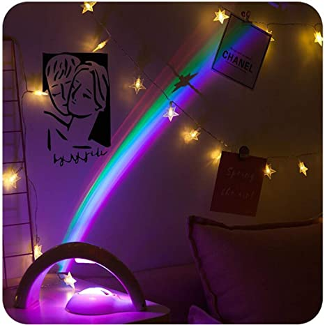 Amazon.com: T09 Lámpara de noche colorida de neón con ...