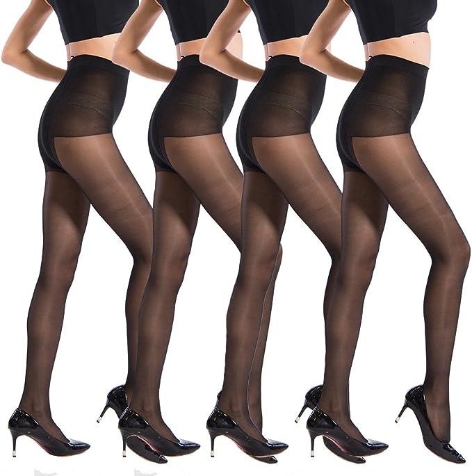 Pantyhose 40 Denier Tights Women High Floral Waist Hose Sheer Hosiery Size Color