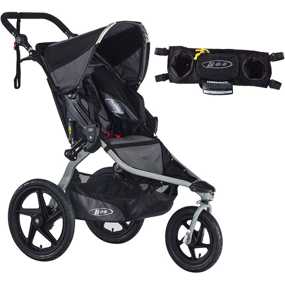 BOB Revolution Flex Stroller - Black/Black with Handlebar Console