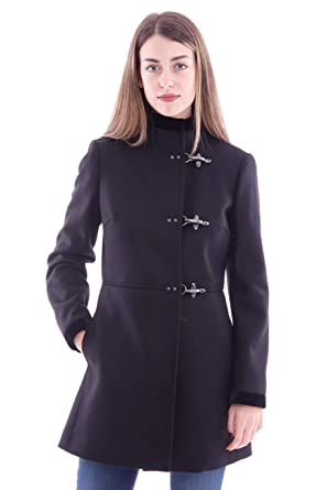wholesale dealer c2a4c cbbf8 Amazon.com: fay Virginia Coat Black in Wool and Cashmere ...