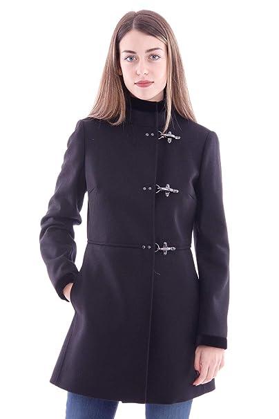 new product ee322 227aa Fay Cappotto Virginia Nero in Lana E Cashmere, Donna, Taglia ...