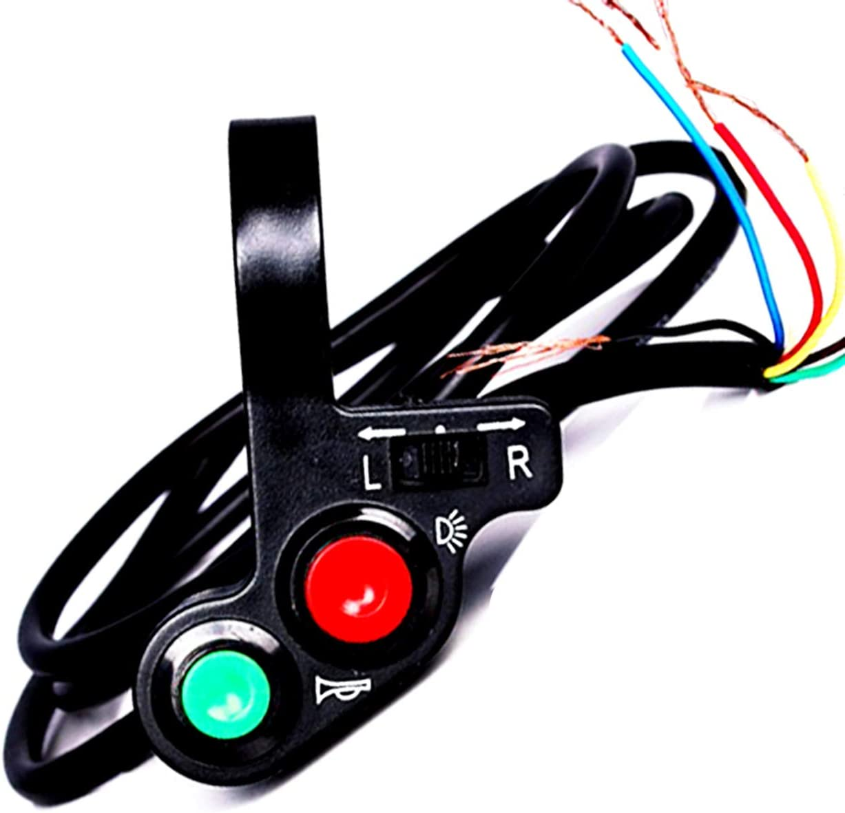 Yibid Motorcycle Turn Signal Light Horn 12v DC Switch Offroad On//Off Multi-function for 7//8 Handlebar Dual Sport Dirt Bike Scooter Electrombile Modify Spotlight Cruiser Motocross Electrical Moped