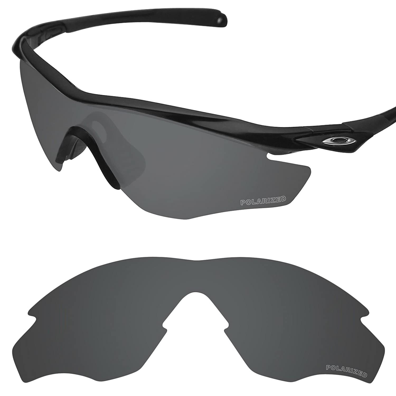 94053c06086 Amazon.com  Tintart Performance Replacement Lenses for Oakley M2 Frame  Polarized Etched - Value Pack  Clothing