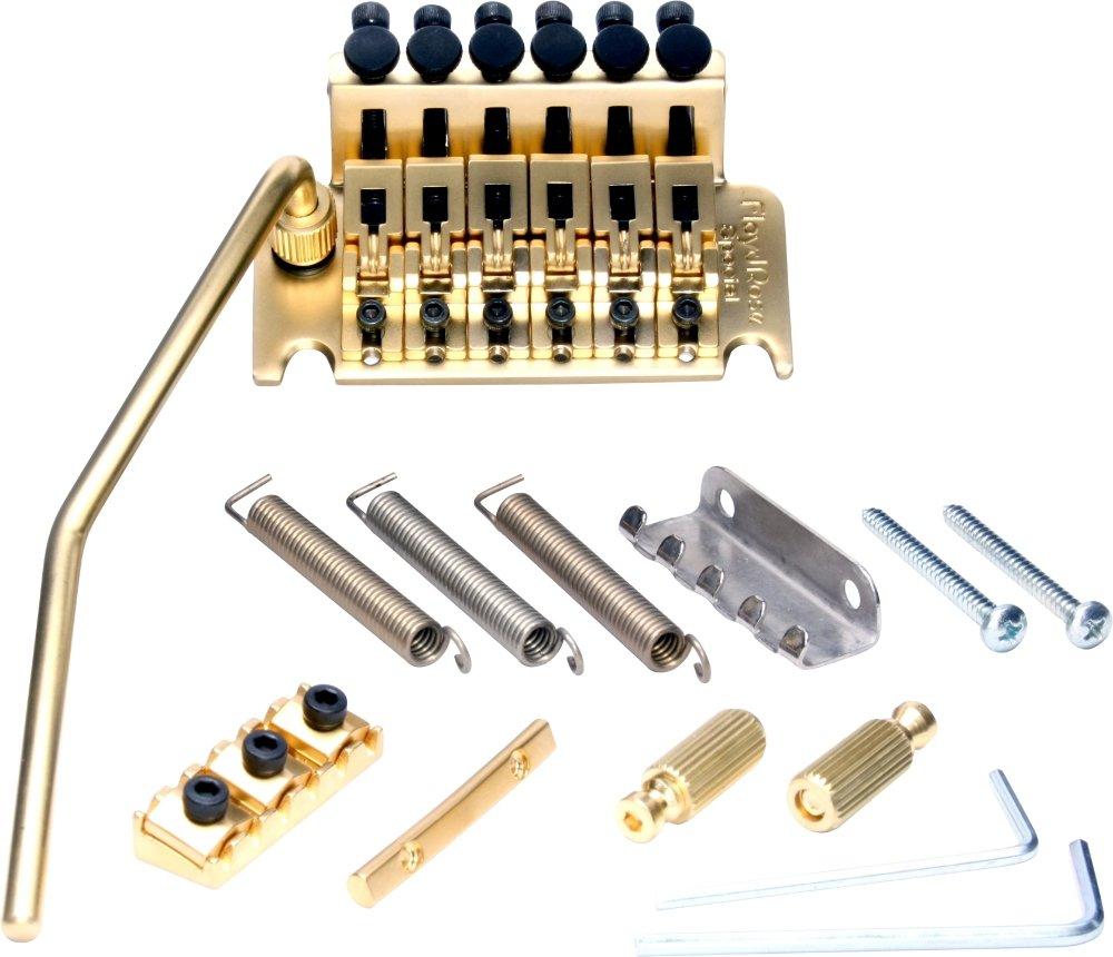 *NEW Floyd Rose Special Locking TREMOLO Bridge /& R2 Nut Electric Gold OEM SALE