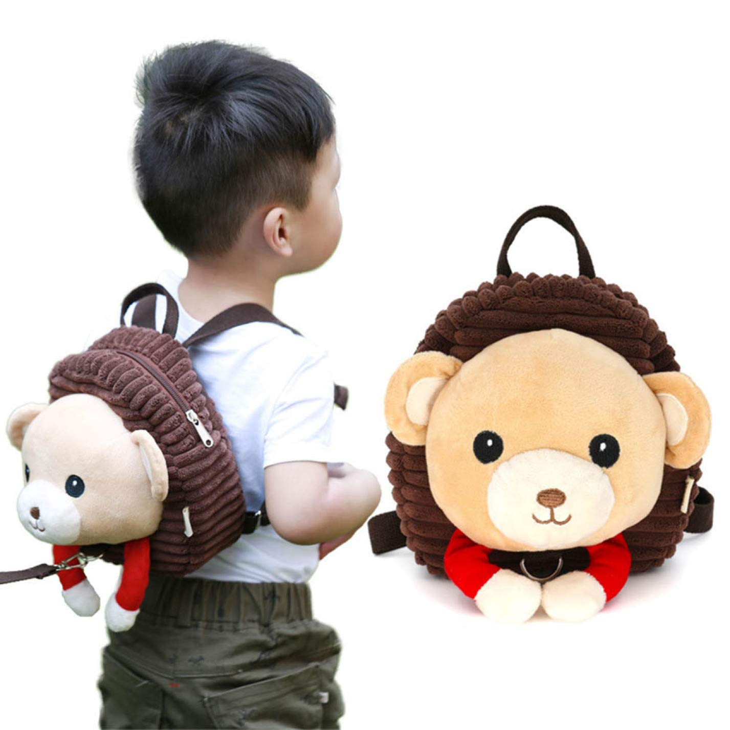 Tonglisen Mochila con arn/és de seguridad para ni/ños y beb/és con correa para la mochila de animales de dibujos animados antip/érdida Cachorro