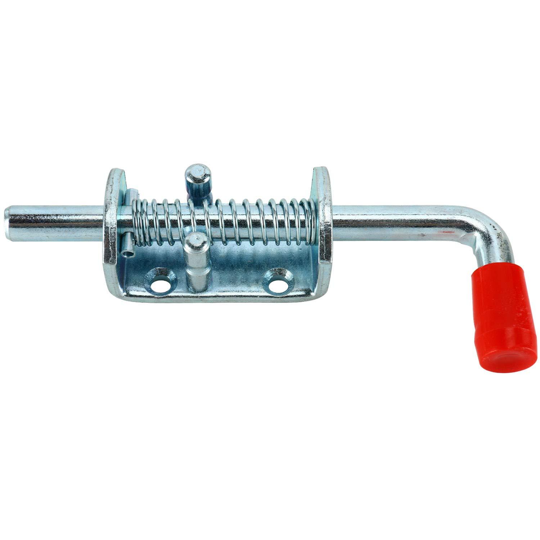 Metal Lock Barrel Bolt Spring Loaded Latch w//Grip Heavy Duty for Gate Shed Door