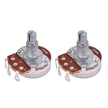 as described White Homyl Guitar Potentiometer Knob Potentiometer Volume Control Knob Cap for Guitar Parts Accessoires 6mm Diameter