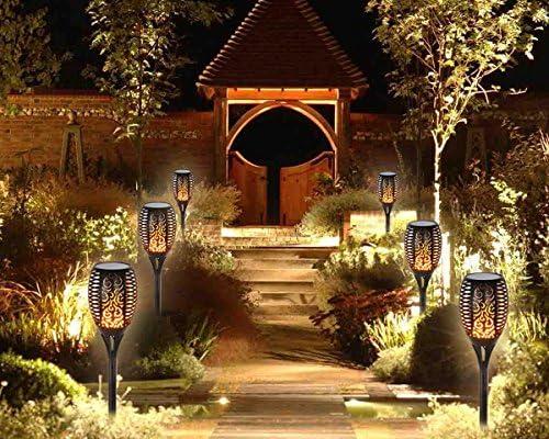 Luces de Jardín Decoración Exterior ,Foco Solar Exterior, Luz Solar Jardín 96 LED Parpadeo Lámpara de Baile Para al Aire Libre Patio,Fiesta,Paisaje,Lmpermeable, Decoración Romántica Del Jardín: Amazon.es: Iluminación
