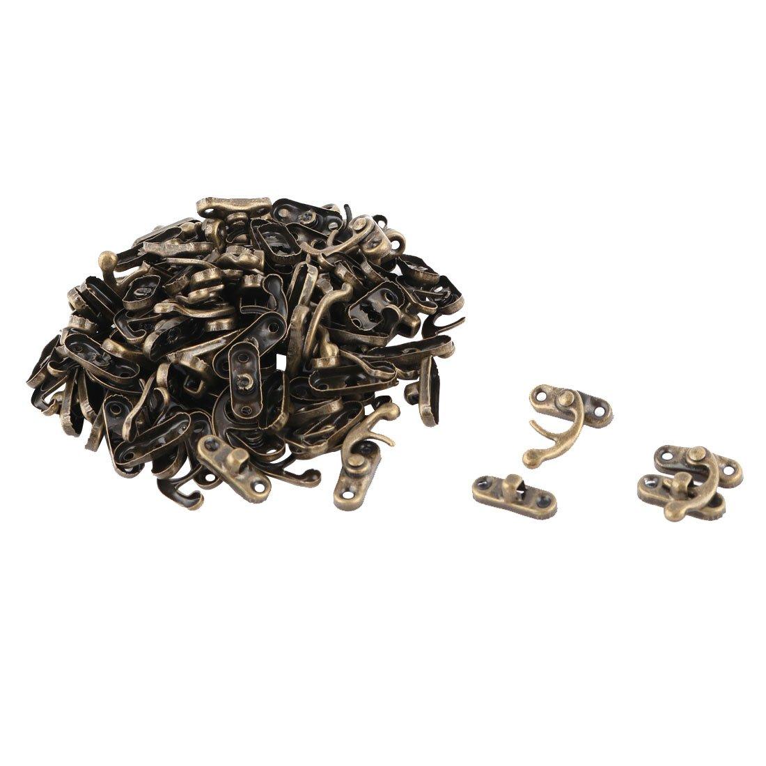 uxcell Metal Family Jewelry Box Case Bag Closure Hasp Lock Latch Buckle Clasp 50pcs Bronze Tone