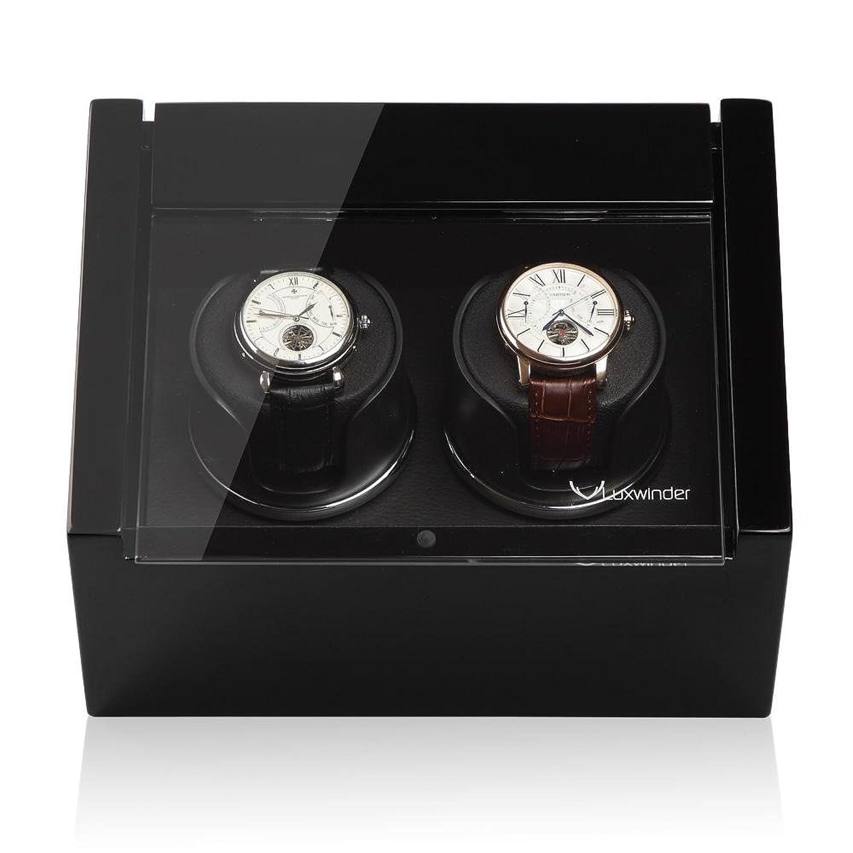 Luxwinder Unisex ZubehÖr Uhrenbeweger fÜr 2 Automatikuhren powered by Modalo verschiedene Materialien schwarz 6102112
