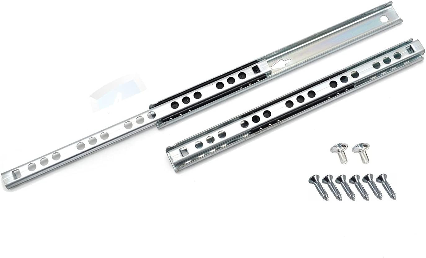 4 Pairs H-17mm L-310mm Ball Bearing Drawer Runners Groove Slides