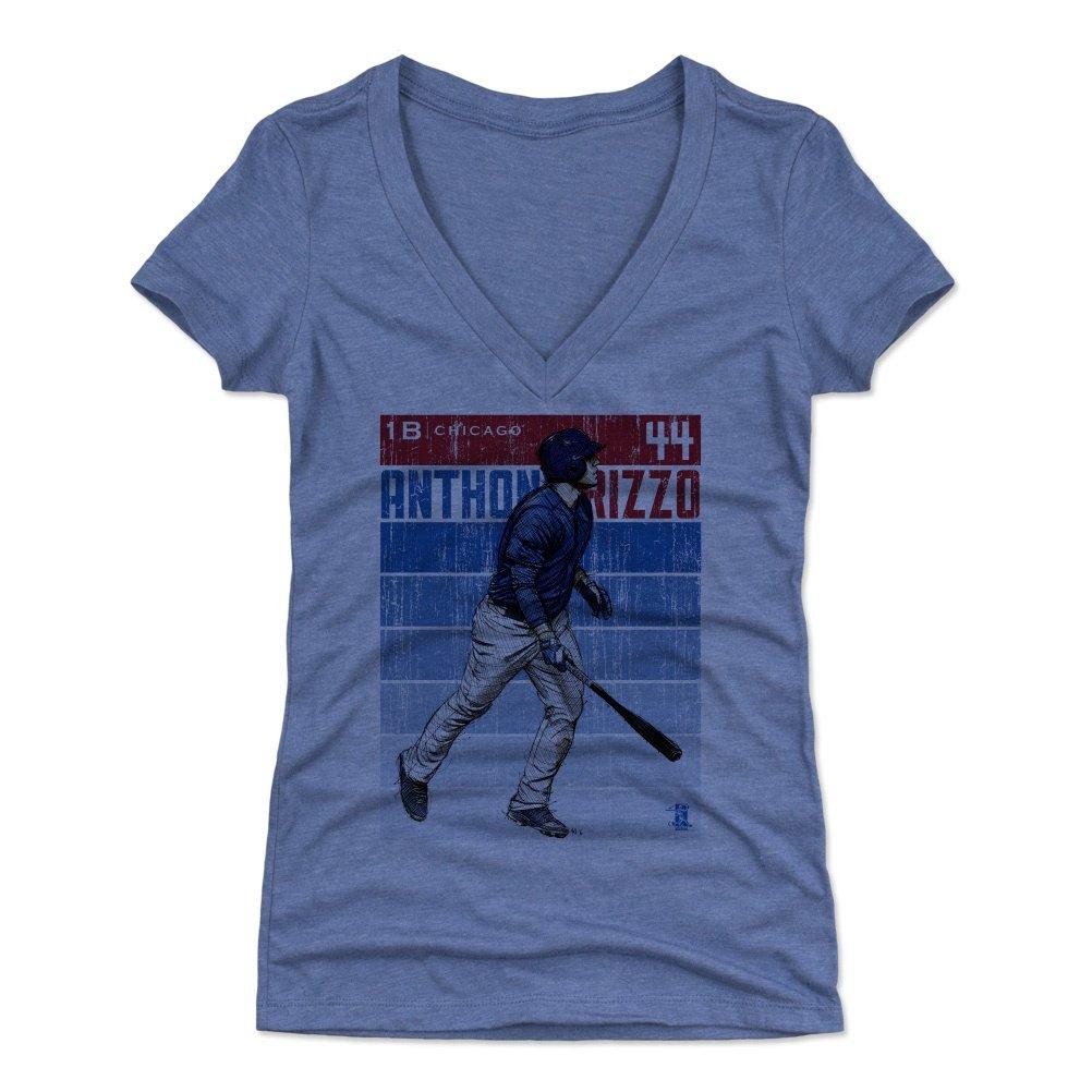 500レベルのアンソニーリゾレディースTシャツ – シカゴ野球ファンギア – Anthony RizzoスケッチBR Small Tri Royal B077N84RDY