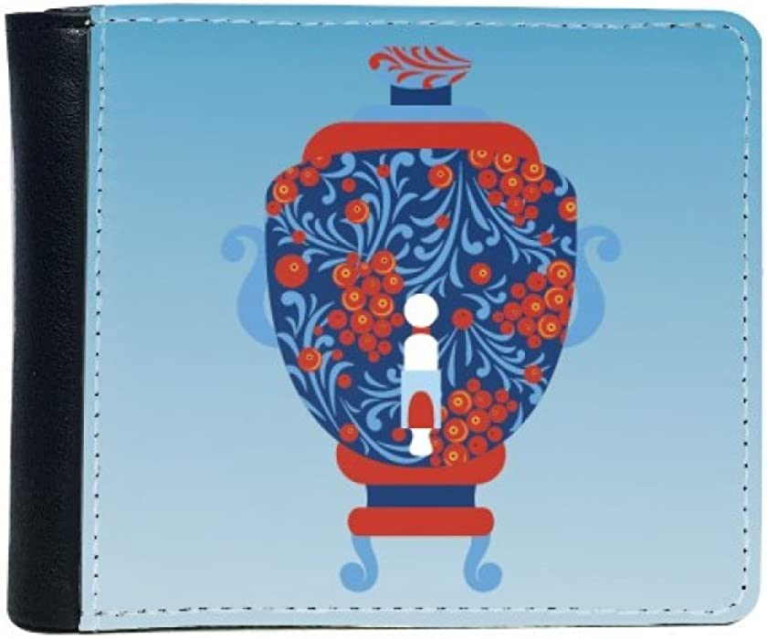Amazon Russia National Symbol Vase Pattern Flip Bifold Faux