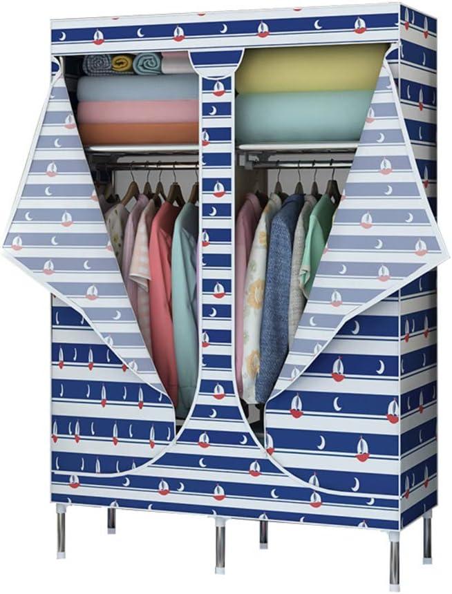 JYXJJKK Garde-Robe Assembl/ée Enti/èrement Ferm/ée /à La Fermeture /éclair,Garde-Robe De Grande Capacit/é-a