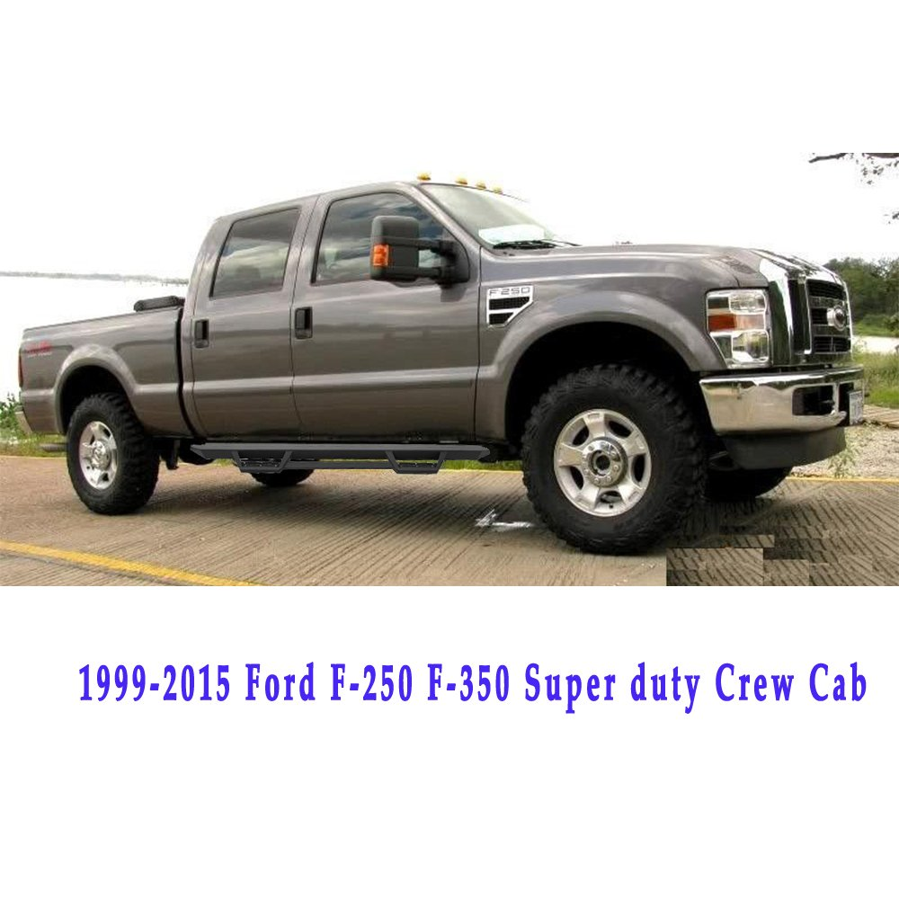 Cdg Pair Superior Rt Black Side Step Bars Rails For 1999 1949 Ford Crew Cab 2018 F 250 350 Super Duty Running Boards Necessary Mounting