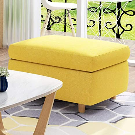 Swell Ecsd Upholstered Square Storage Ottoman Wooden Leg Footstool Pdpeps Interior Chair Design Pdpepsorg