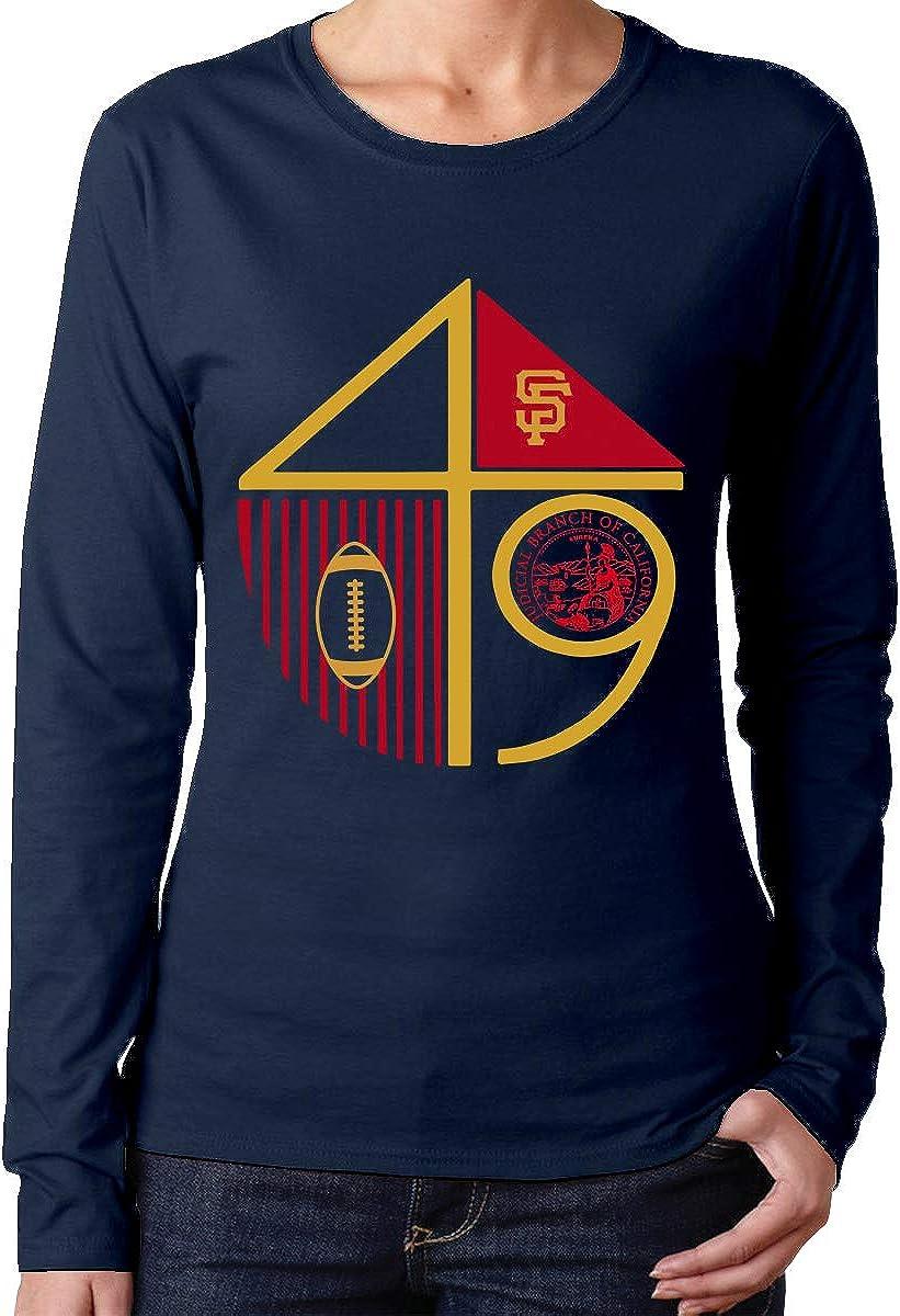MiiyarHome Womens Long Sleeve T-Shirts Where Can I Buy A Map of California Tee Teen Girls Printed Long Sleeves Black