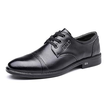 74186c4a963a Mzq-yq Men s Business Dress Shoes Men s Shoes England Leather Single Shoes  Men s Pointed Wear