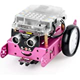 Makeblock DIY mBot 1.1 Kit (Bluetooth Version) - STEM Education - Arduino - Scratch 2.0 - Programmable Robot Kit for Kids to Learn Coding & Robotics - Pink