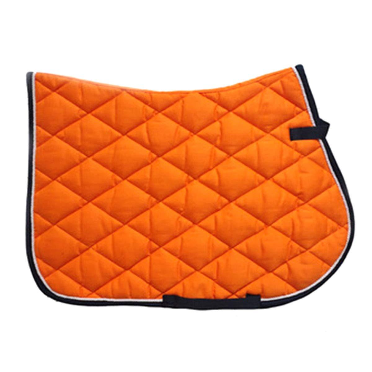 YINSONG Mantilla de Caballo - Mantilla para Uso General Ecuestre Cuchilla de Silla de Montar Acolchada Cómoda y Completa, Naranja