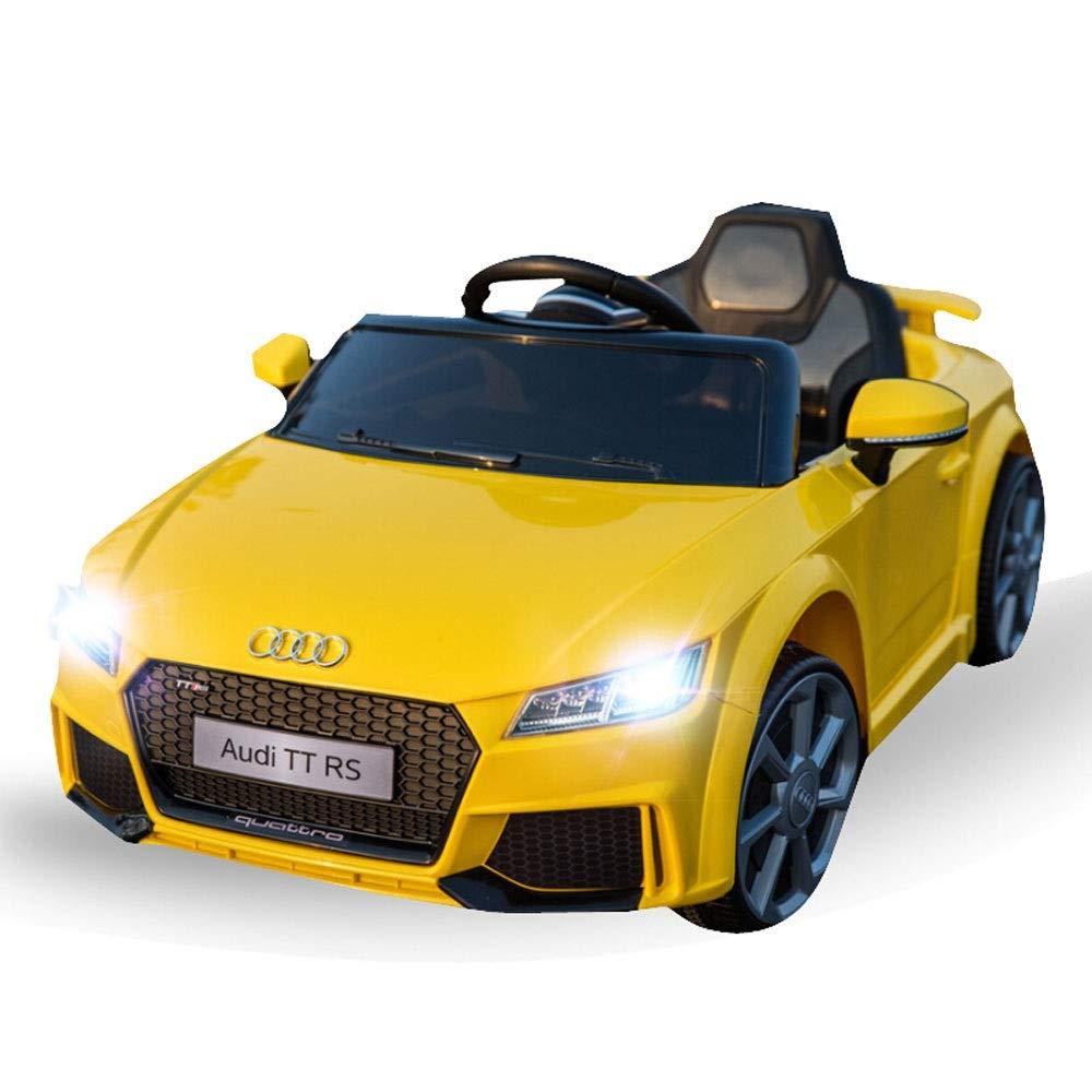 Bseion Telecomando Veicolo Audi Electric Ride su Auto per Bambini con Telecomando Apertura Porta LED Luce per Bambini Regalo Giocattolo parentale Telecomando