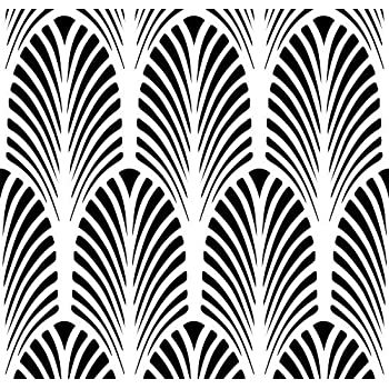 Amazon.com: Great Gatsby Art Deco Fan Wall Stencil - 3711 by ...