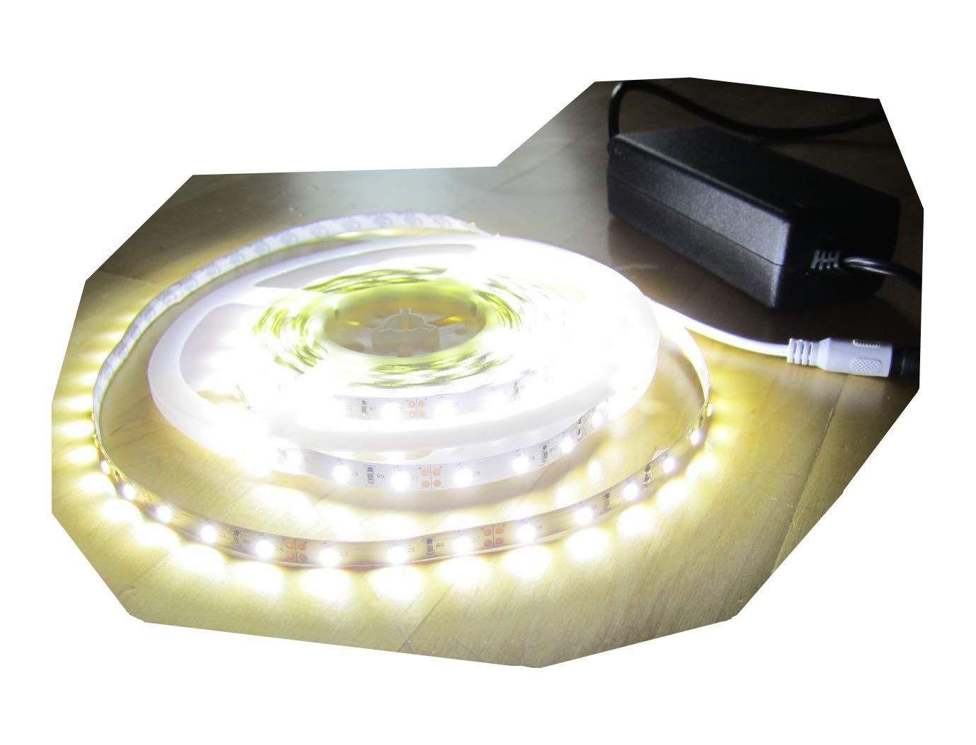 SET 6250 Lumen 5m Ultra Highpower Led Streifen mit 300 2835 LED's neutralweiß natur weiss naturweiß superhell inkl. Netzteil 24V (Pro-Serie) TÜV GS geprüft von AS-S
