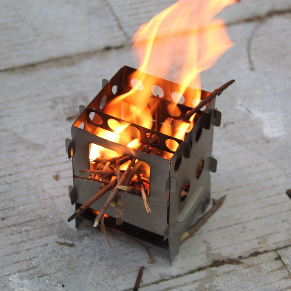 Amazon.com : Lixada Portable Stainless Steel Lightweight Folding Wood Stove  Pocket Stove for Camping Cooking Picnic Backpacking Outdoor : Sports &  Outdoors - Amazon.com : Lixada Portable Stainless Steel Lightweight Folding