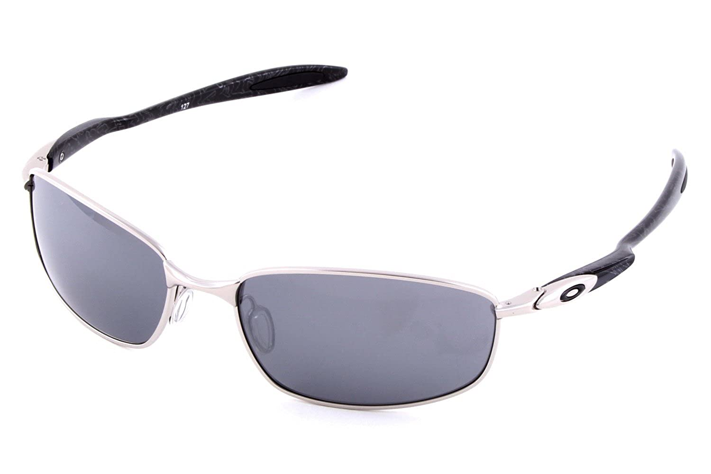 4ad181532 Oakley Blender Chrome/Silver Ghost Text/Black Iridium Lens Mens Sunglasses:  Amazon.co.uk: Clothing