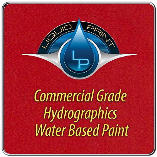 Bright Red Hydrographics Paint - 1 Quart - Water Based - Liquid Print Hydrographics Paint Supplies by Liquid Print