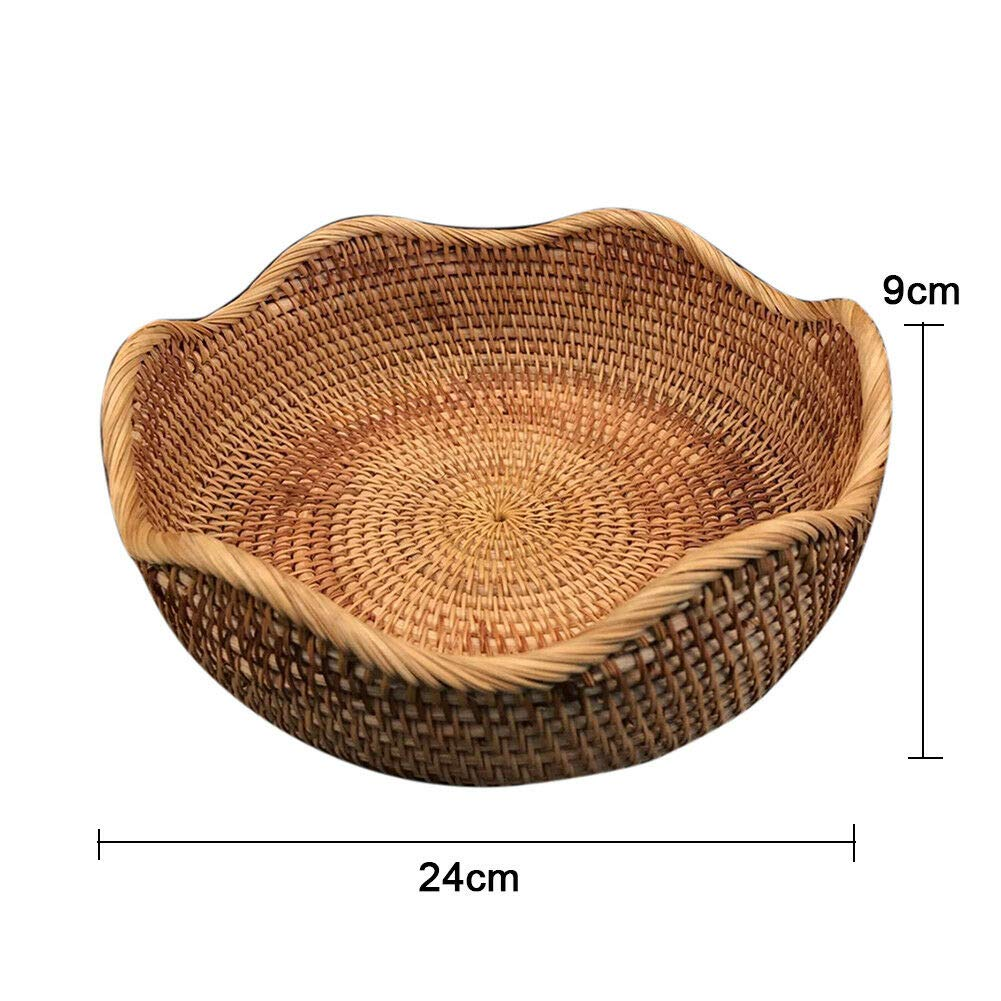MOPOLIS Rattan Woven Storage Basket Dried Fruit Storage Sundries Container Organizer Box | Model - #2