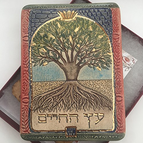 The Tree of Life. Hand Made Ceramic Plaque. 24k Gold Decor. Holy Land Gift Art in Clay by Tree of Life (Image #3)