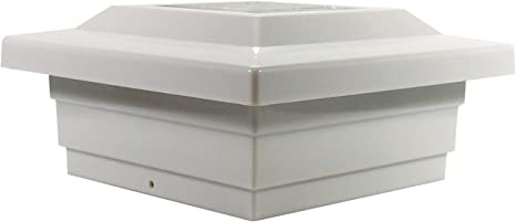 PL252 2 Pack Solar Post Cap Low Profile 4 SMD LED White 5X5 Vinyl /& Wood