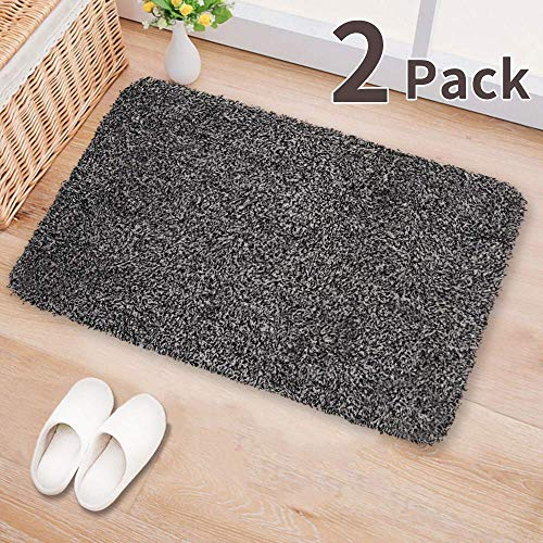 Rain Black Rug (Large Indoor Super Absorbs Mud Doormat 18