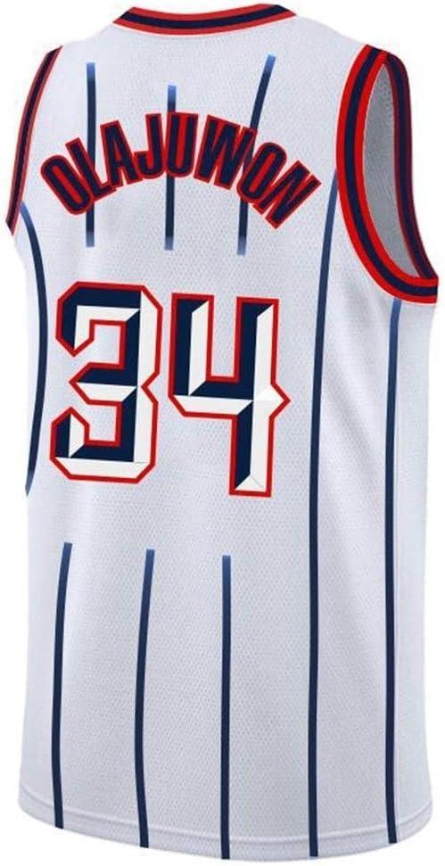 Rockets NBA Jersey # 34 Olajuwon Retro sin Mangas Transpirable Fitness Deportivo Camisetas Aficionados Alero Jerseys LCY Camiseta de Baloncesto de los Hombres