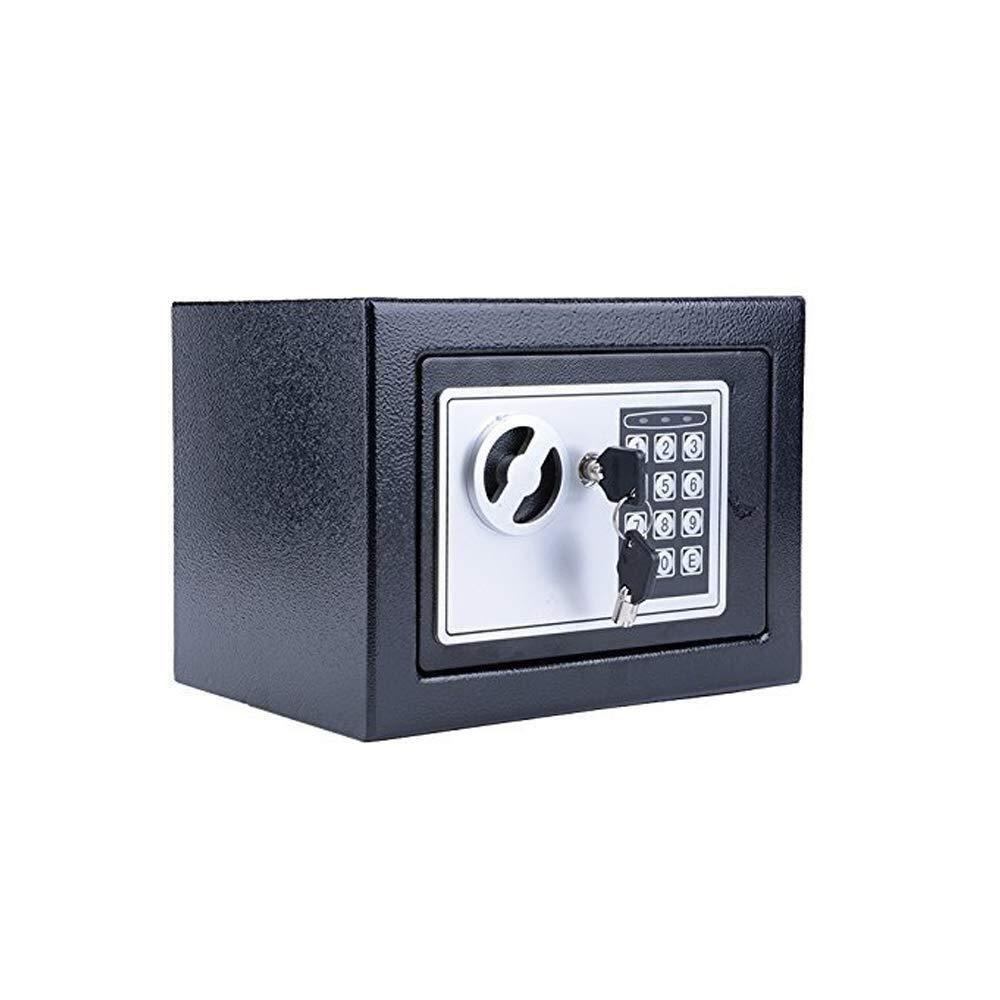 セーフティボックス、6.4 Lホームセーフ固体鋼電子デジタル安全セキュリティボックスキャビネットジュエリー用ホームオフィスホテルの現金