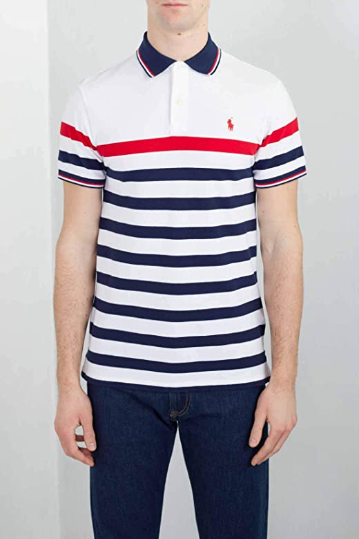 Polo Polo Ralph Lauren Stripes Blanco Hombre XXL Blanco: Amazon.es ...