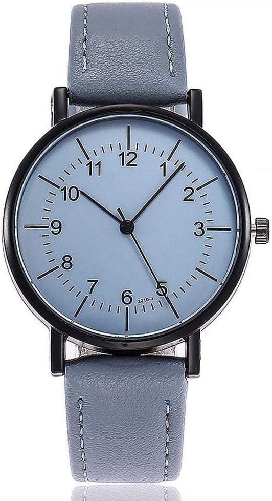 Relojes Reloj Watches Relojes De Pulsera Reloj De Vestir De Mujer Moda De Lujo Cuero Mujer S Simple Relojes De Pulsera De Cuarzo-Azul