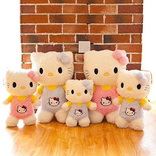 My Super Star Hello Kitty Plush Toys Dolls,Baby Girls Toys, 3 sizes 14'' 18'' 24'',Pink Blue color, (Pink, - Baby 24 Plush