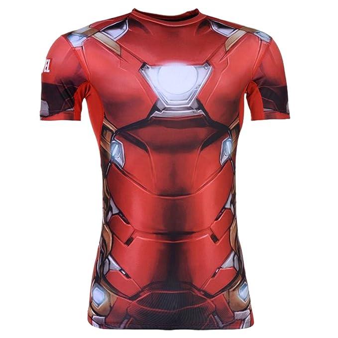 Marvel Hombre Sondico Top Capa Base Iron Man XL