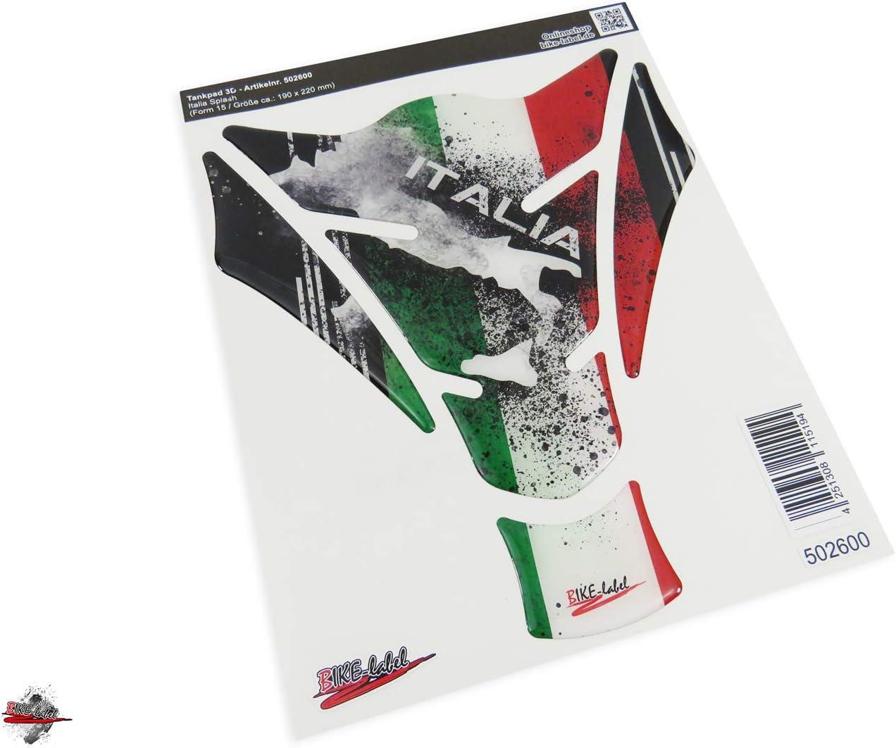 Bike Label 502600 Va Tankpad Italien Italia Motorrad Aufkleber Tankschutz Auto
