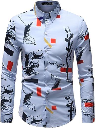 BESBOMIG Camisa Hawaiana para Hombre Mujer - Slim Fit Negocio Playa Verano Unisex Funky Camisa Hawaiana L-5XL: Amazon.es: Ropa y accesorios