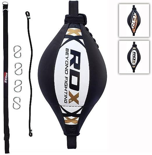 10 opinioni per RDX Palla Tesa Pelle Double End Ball Dodge Speed Bag Veloce Boxe Allenamento