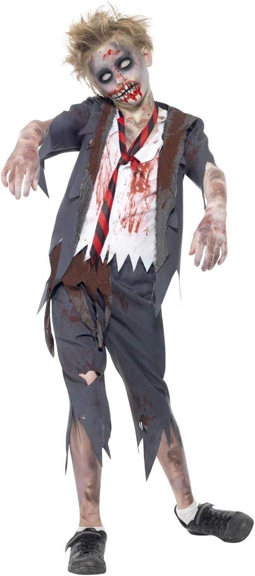 Smiffys Disfraz de colegial Zombi, con pantalón, Chaqueta, Falsa Camisa y Corbata: Smiffys: Amazon.es: Juguetes y juegos