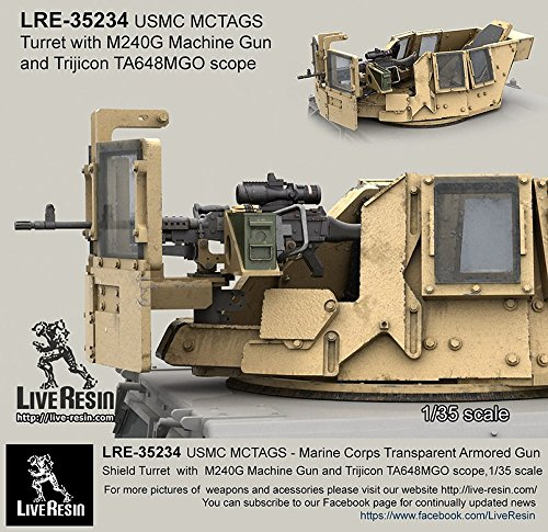 Live Resin 1:35 MCTAG5 Marine Corps Armored Gun Shield #8 Resin Detail - 35 Resin