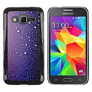 Paccase / SLIM PC / Aliminium Casa Carcasa Funda Case Cover para - Rain Drops Water Shiny Sad - Samsung Galaxy Core Prime SM-G360